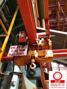 งานตรวจเช็คและปรับตั้งรอกโซ่ไฟฟ้า ขนาด 250 Kgs