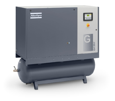 Oil-injected rotary screw compressors Model GA 18 FF