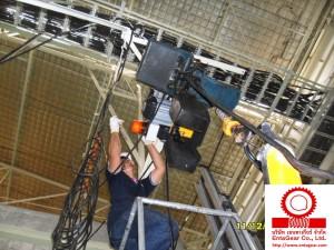 งานติดตั้งรอกโซ่ไฟฟ้า Yale Electric Chain Hoist Model CPVF 10-8 ขนาด 1 ตัน