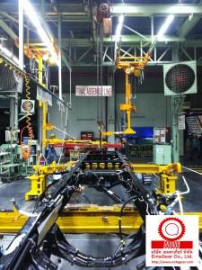 ติดตั้ง Atlas Copco Nut Runner BKT Trunnion ใน Assembly Line