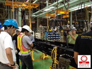 ติดตั้ง Atlas Copco Electric Nutrunner Tools สำหรับ Assembly Line ส่วนงาน Frame Assy