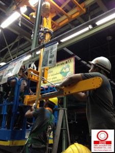 ติดตั้ง Atlas Copco Nut Runner BKT Trunnion ใน Assembly Line