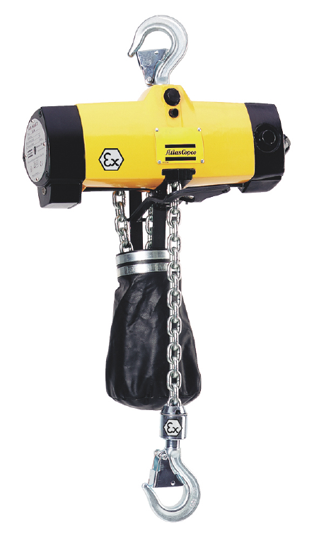 Atlas Copco Air Hoist with ATEX classified, Explosion Proof for Safe Operation
