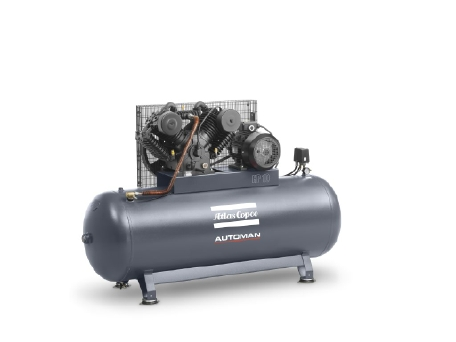 Automan AT series: Oil-lubricated, cast-iron piston compressors