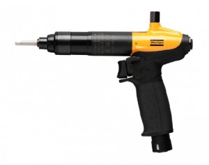 LUM12 HRF5 : Pneumatic pistol balanced grip shut-off screwdriver with trigger start and multiple air inlets