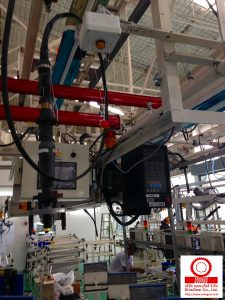 Electric Nutrunner Assembly Tools with PLC moving, relocation, and fully installed in the new assembly line.